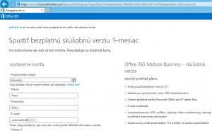 Office 365 - Vytvorenie skúšobného konta