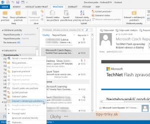 Obľúbené položky v Outlook 2013