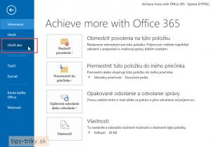 Ako uložiť dôležité emaily v Outlooku