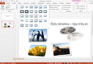 Štýly obrázkov PowerPoint zrýchľujú úpravy