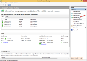 Obnovenie súborov z Azure Backup