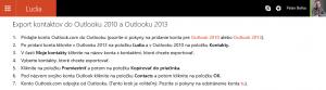 Ľudia vo OneDrive sú kontakty cloude