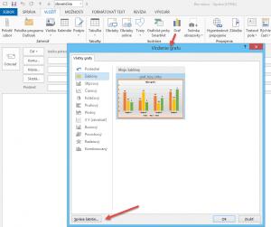 Správa šablón grafov v Office 2013