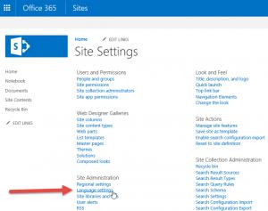 Ako prepnúť jazyk SharePoint online v Office 365